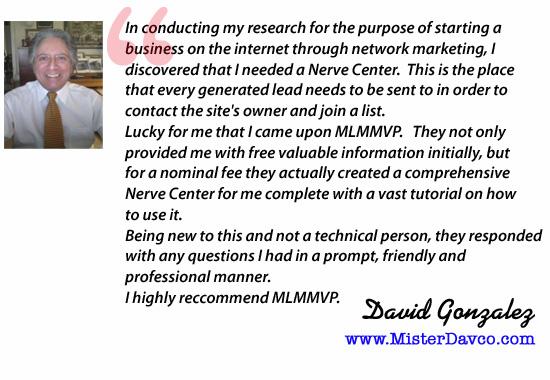 David MLMMVP testimonial
